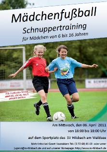 Schnuppertraining für Mädchen beim SV Hilsbach